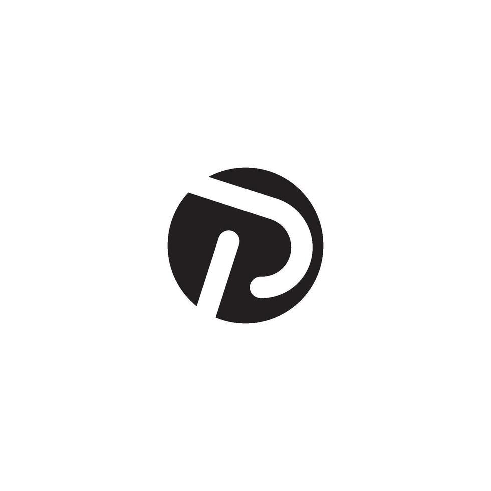 icono de vector de plantilla de negocio de logotipo de letra p