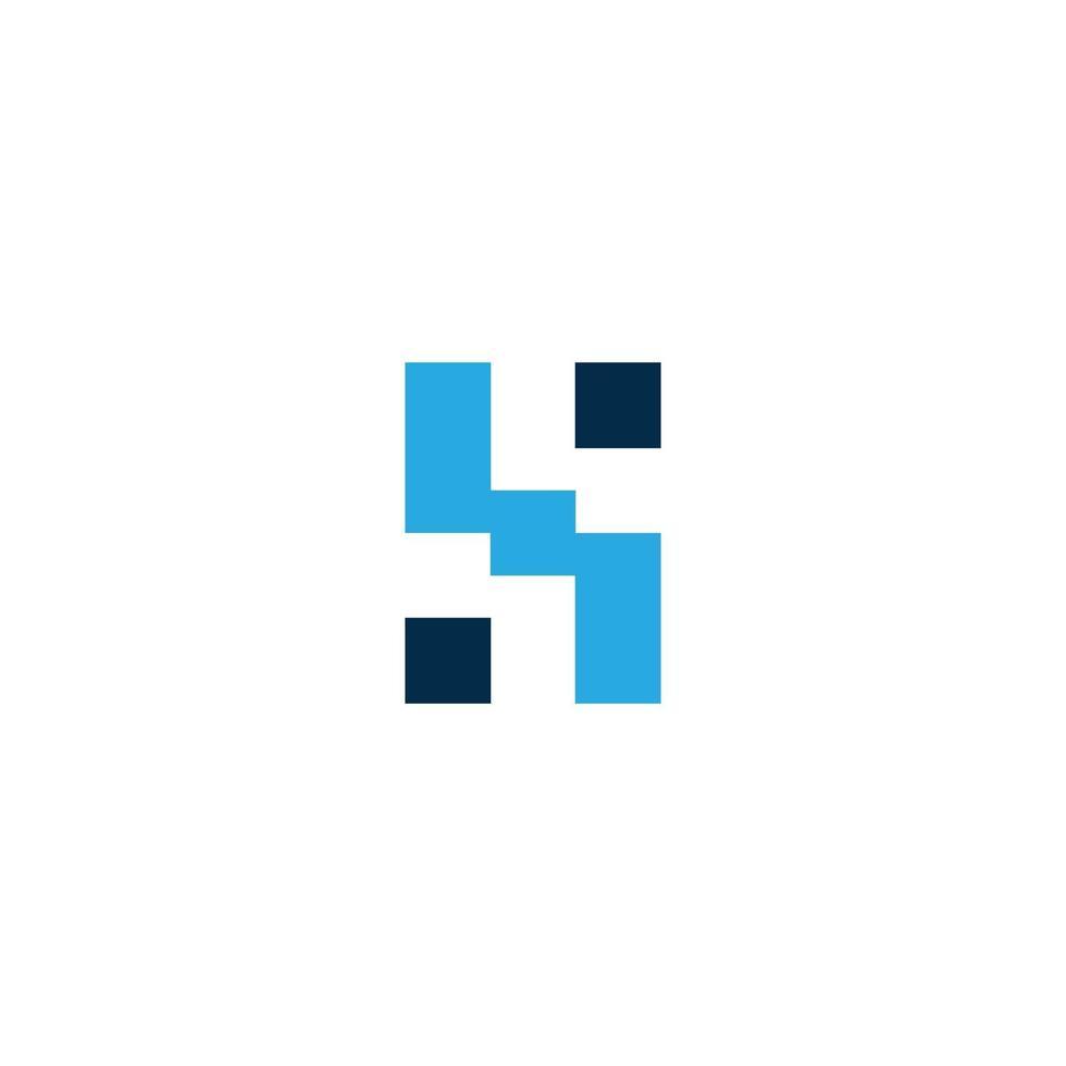 Ilustración de vector de diseño de plantilla de logotipo de letra hs