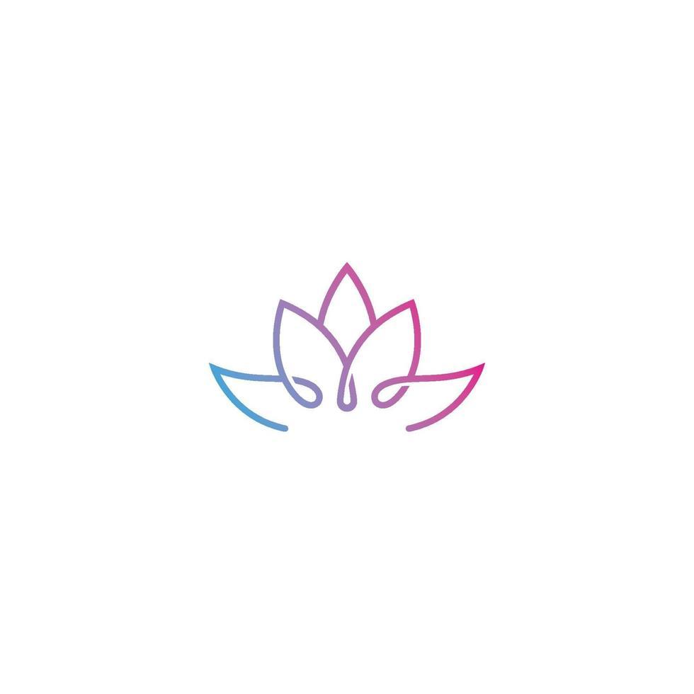 icono de plantilla de logotipo de diseño de flores de loto de vector de belleza