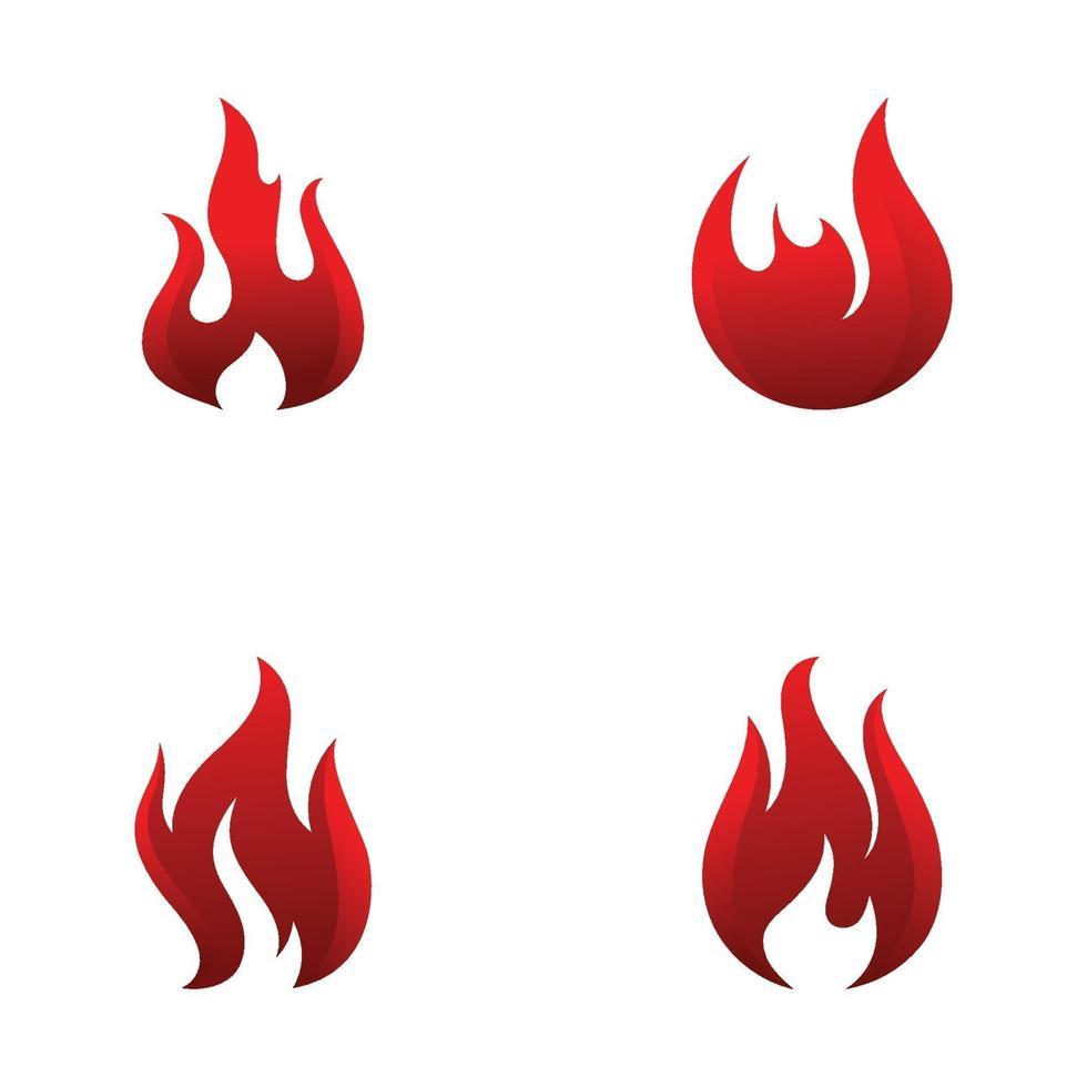 plantilla de vector de diseño de logotipo de llama de fuego