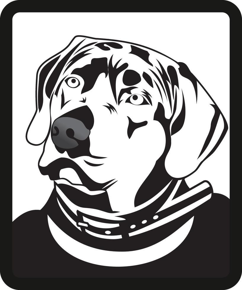 ilustración de personaje de cabeza de perro vector