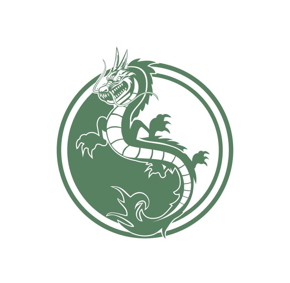 personaje de mascota dragón chino ilustración vector