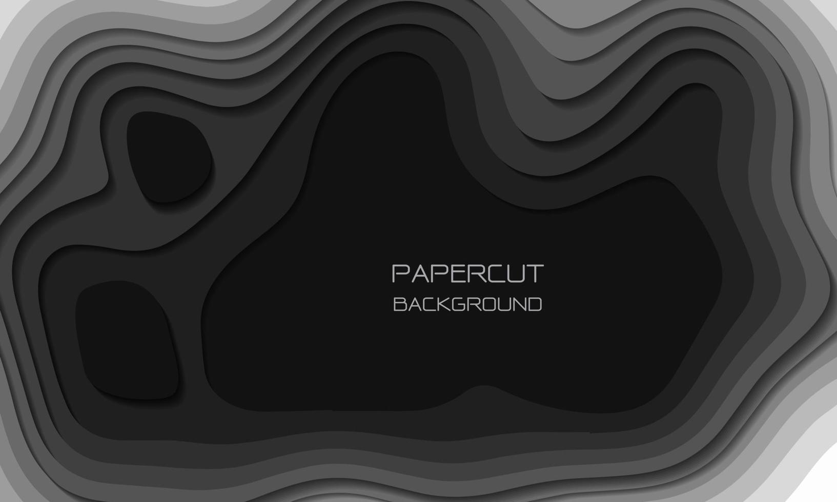 Corte de papel de tono gris abstracto Las capas 3d se superponen con la ilustración de vector de textura de fondo de arte.