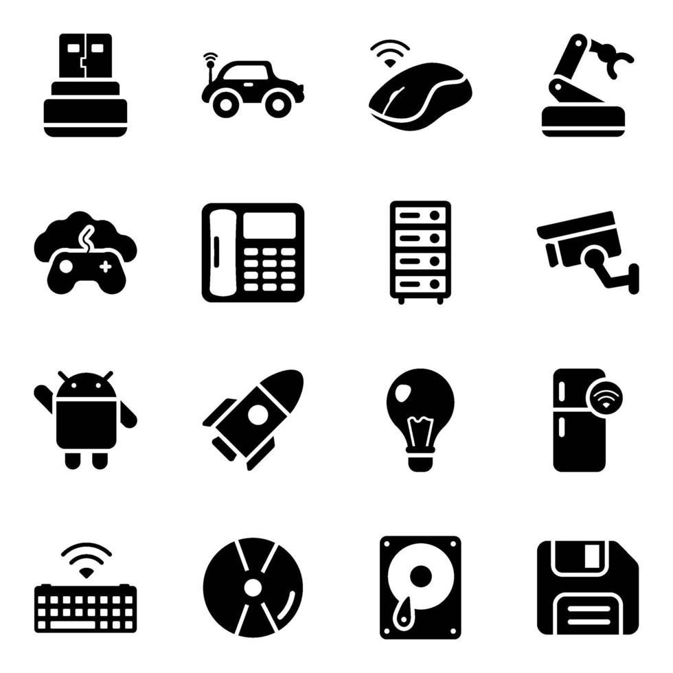 conjunto de iconos de dispositivos electrónicos modernos vector