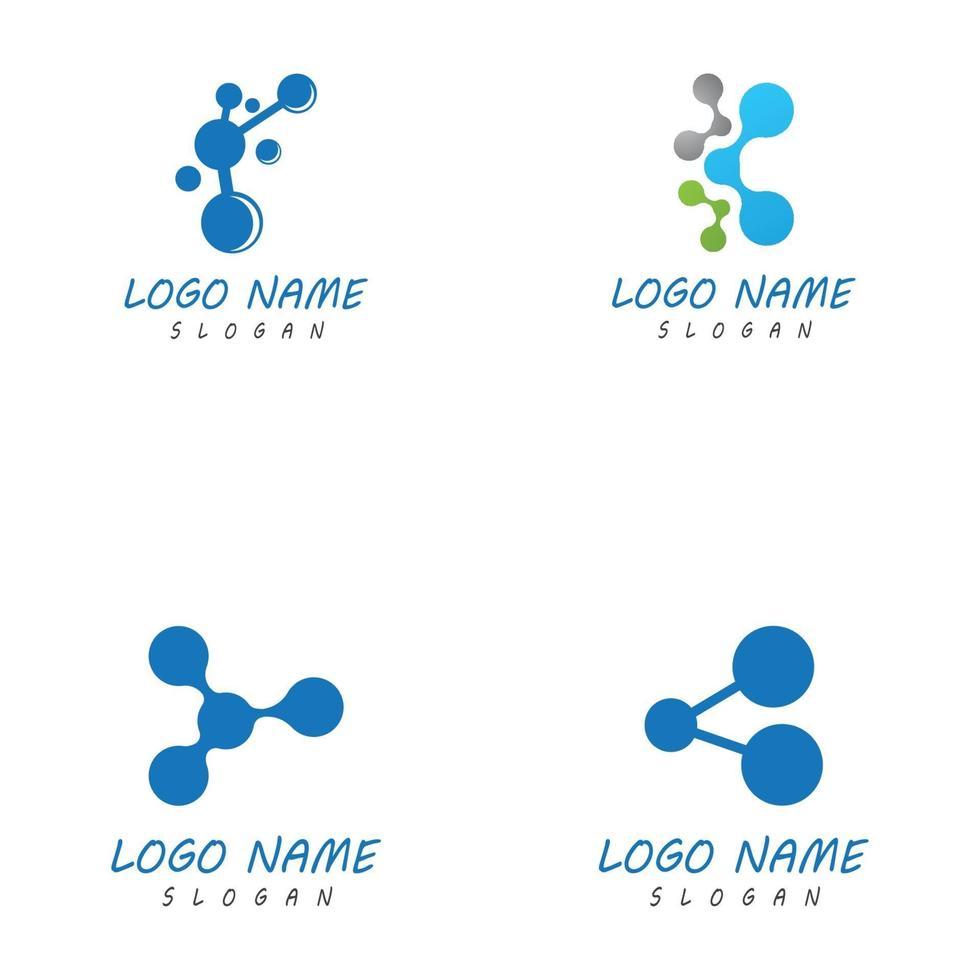 Molecule symbol logo template vector illustration design set