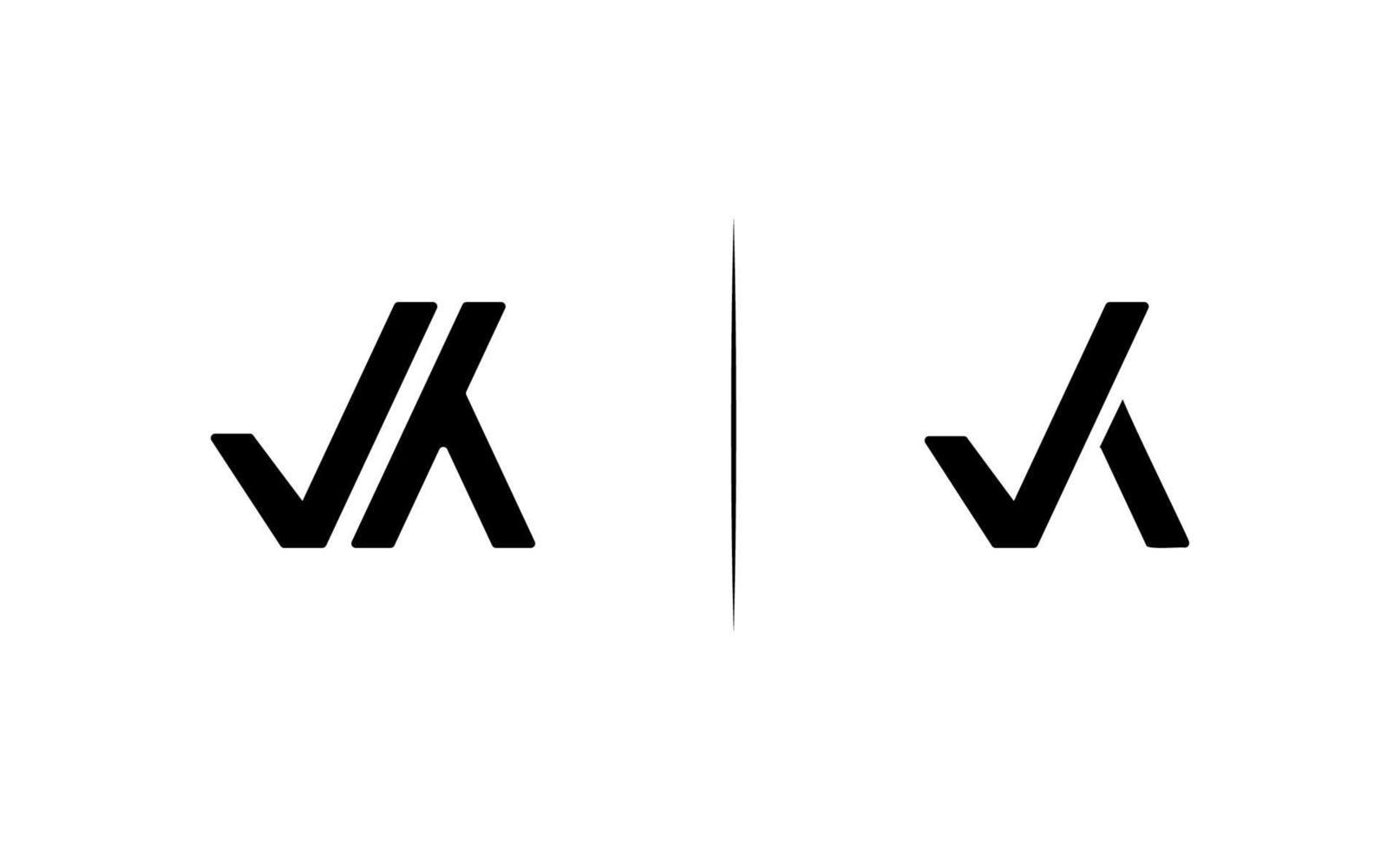 Initial VK logo design template vector