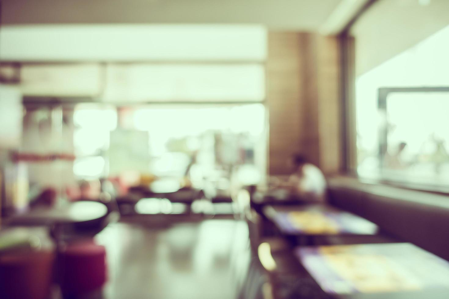 Abstract blur coffee shop and restaurant interior photo