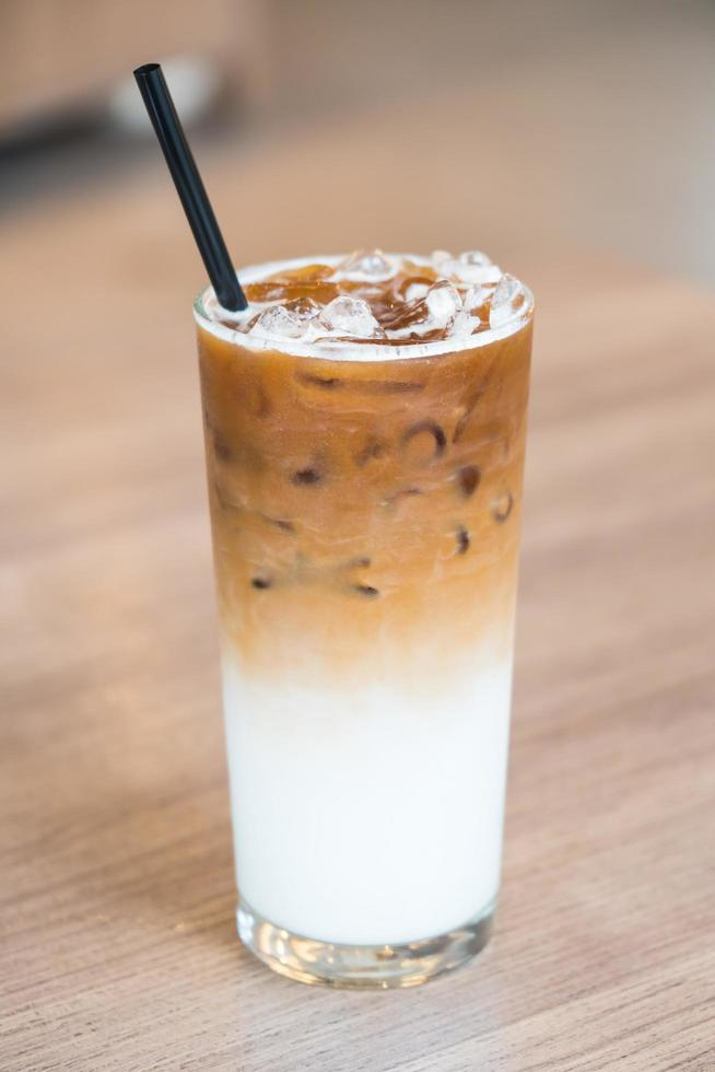 Iced latte coffee photo