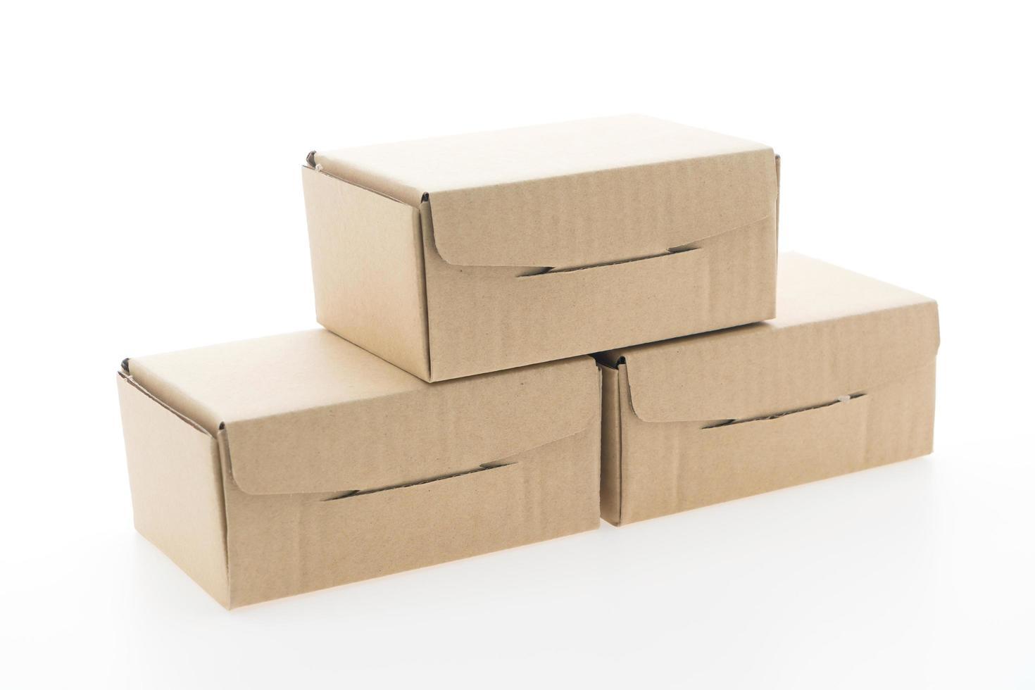 maqueta de caja marrón foto
