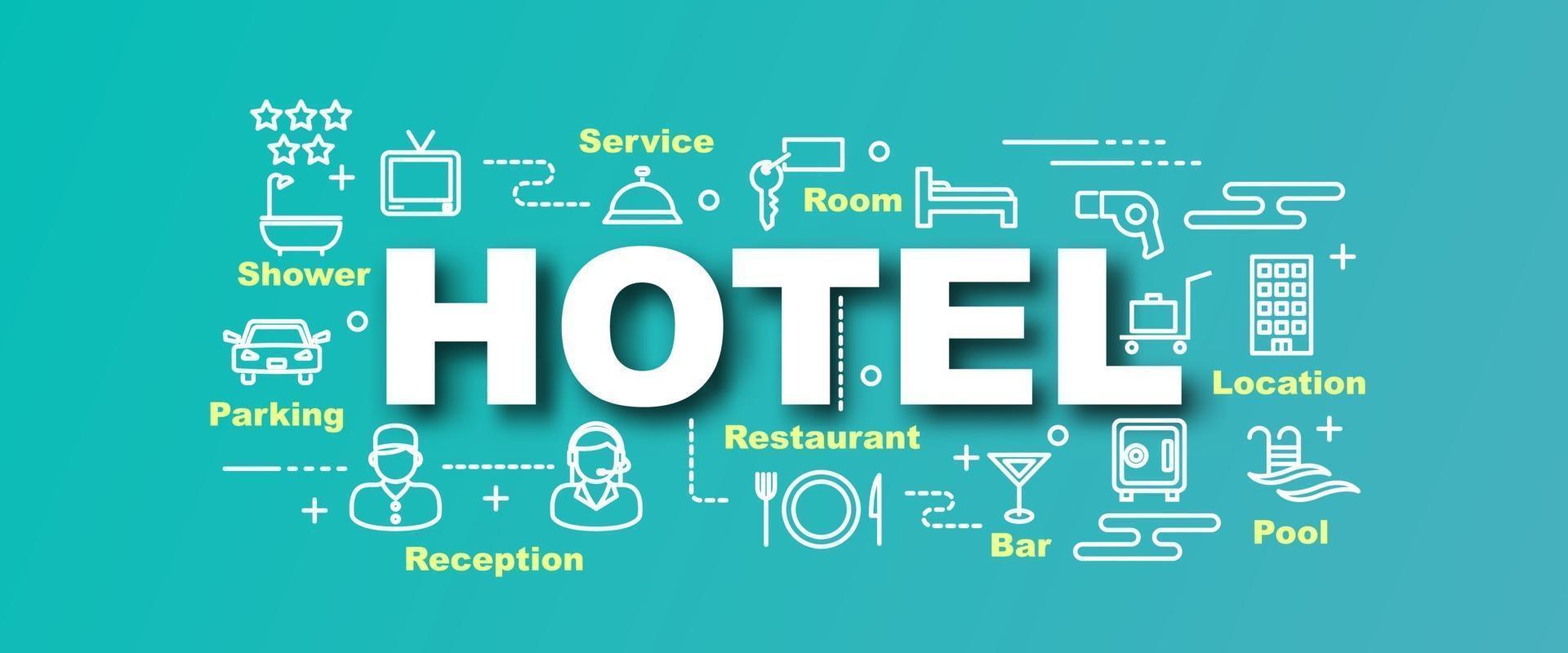 hotel vector trendy banner