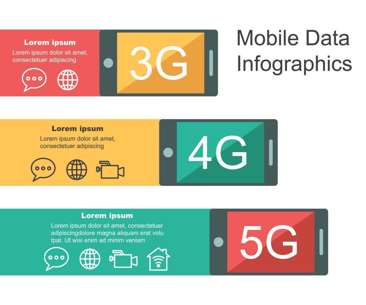 infografías de datos móviles vector