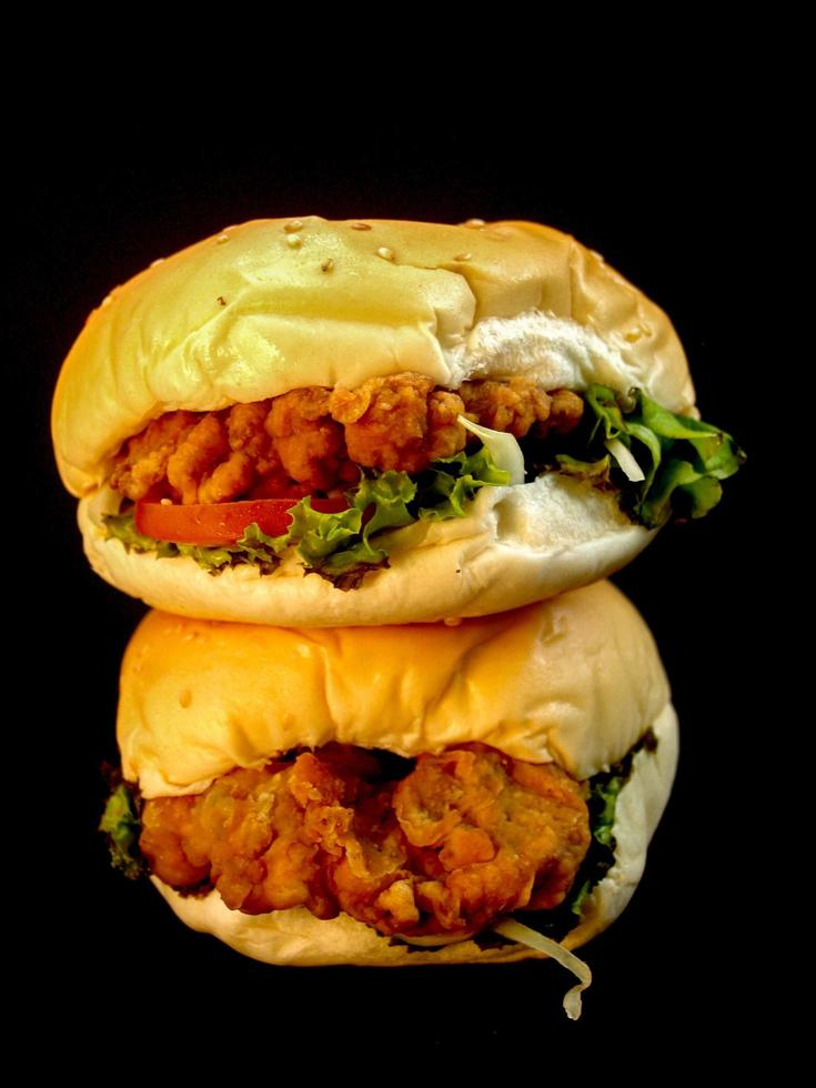 imagen de comida de hamburguesa foto