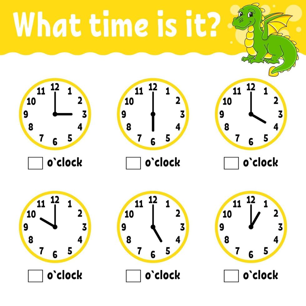Learning time on the clock. Educational activity worksheet for ...