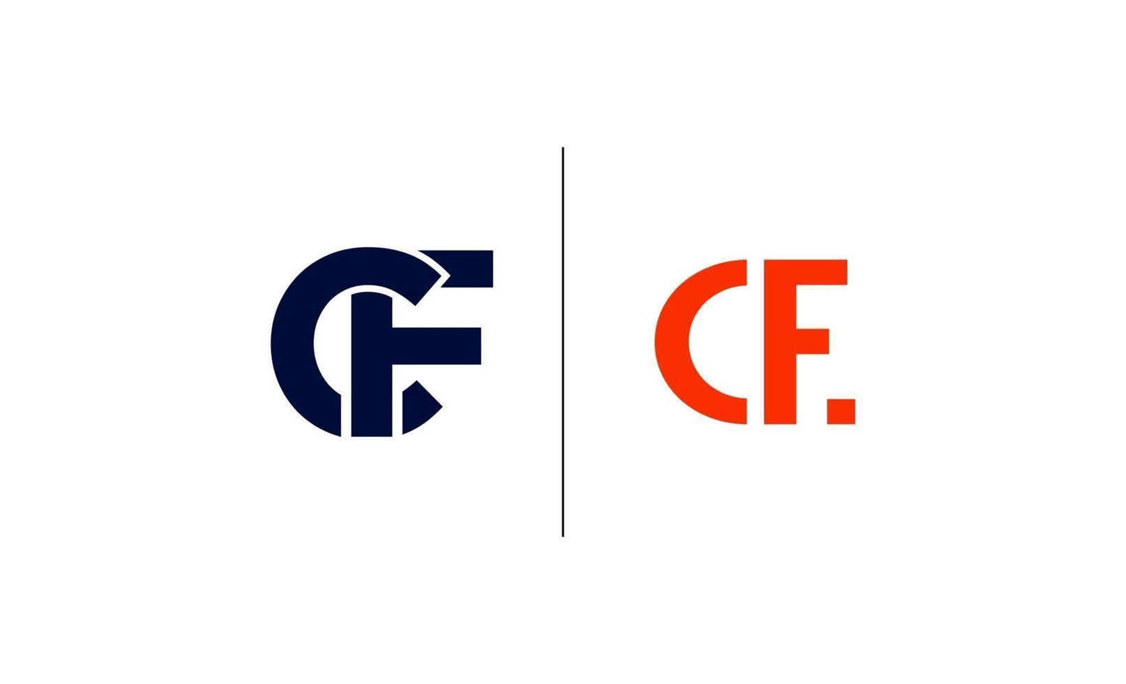 CF monogram initials letter logo concept vector