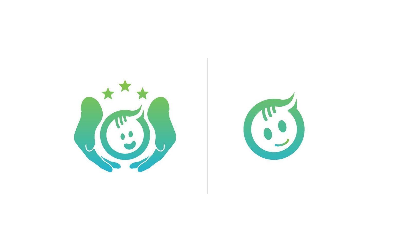cuidado del bebé o ilustración de vector de plantilla de logotipo de crianza
