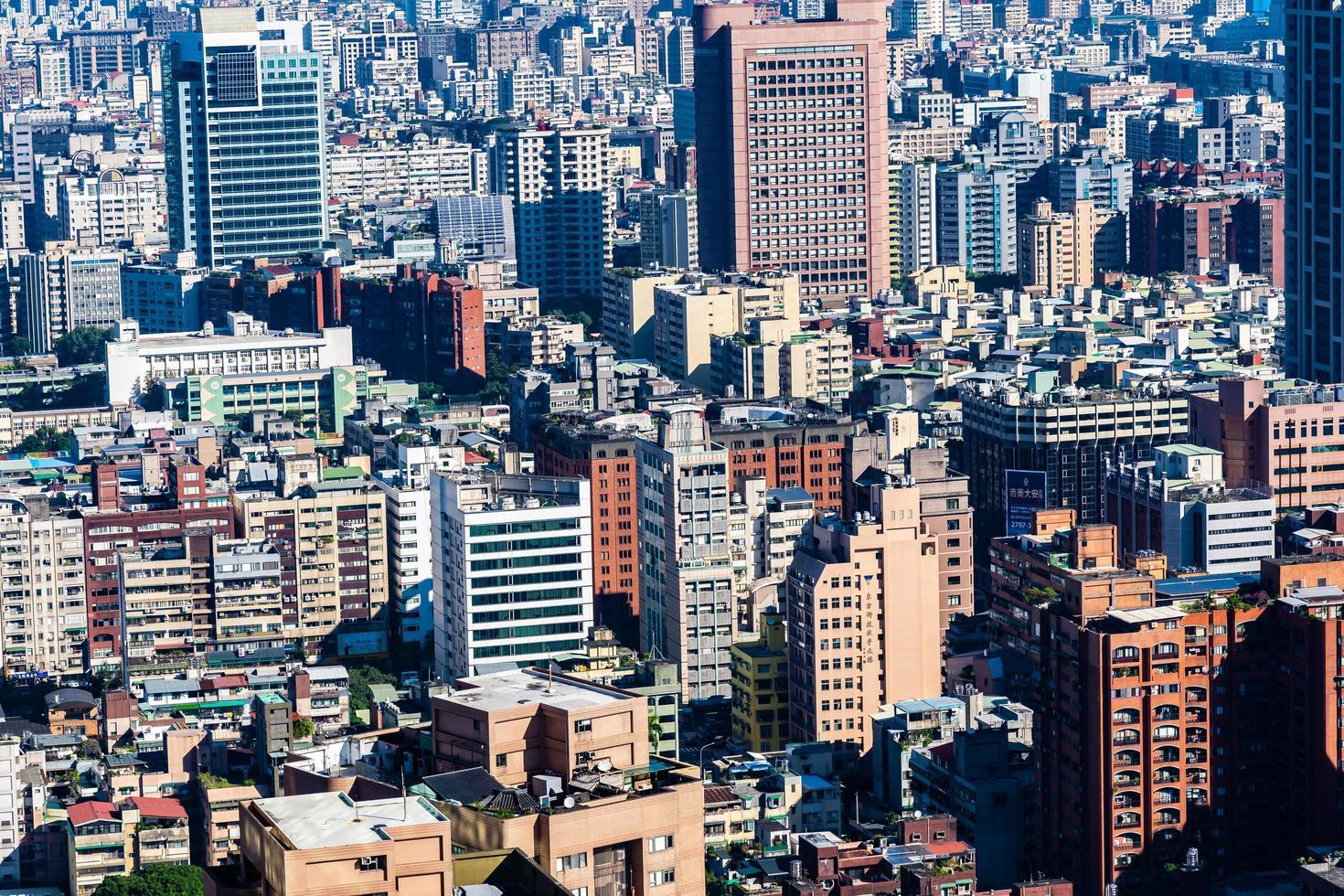 paisaje urbano de la ciudad de taipei en taiwán foto