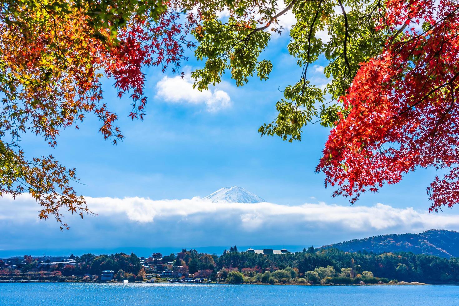 hermoso paisaje en mt. fuji, japón foto