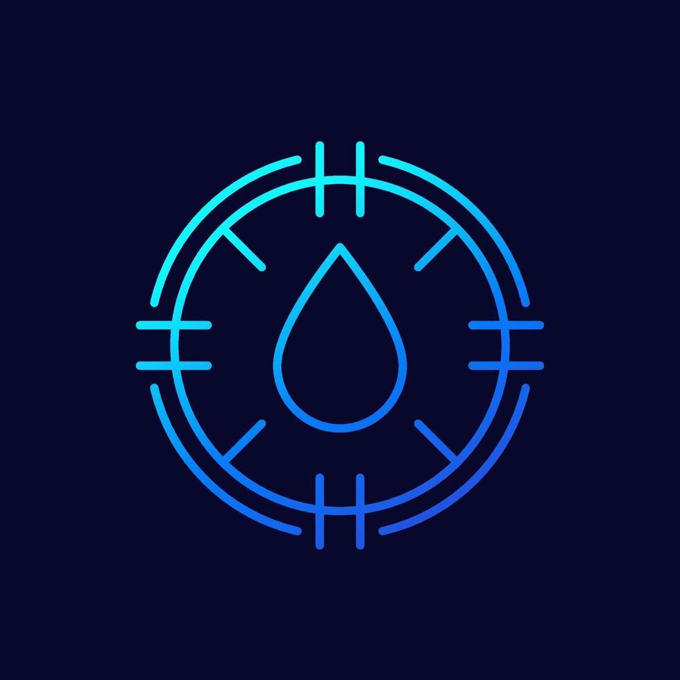icono de humedad, vector de línea delgada