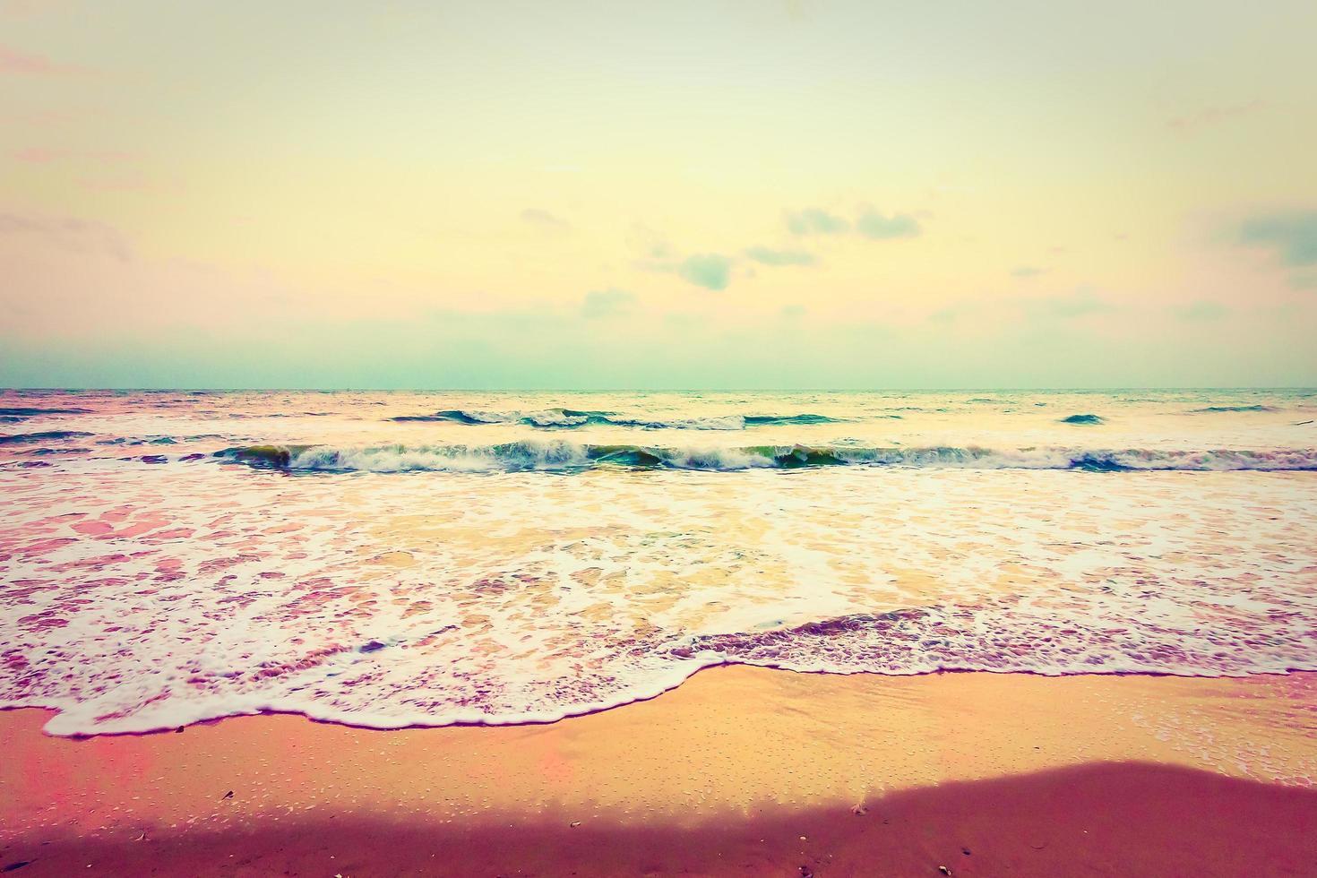mar y playa vintage foto