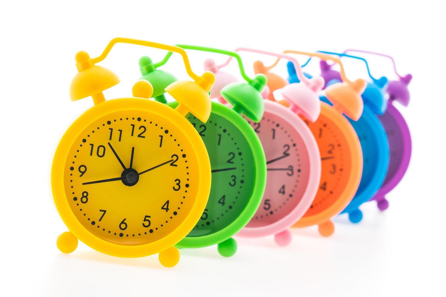 coloridos relojes de alarma foto