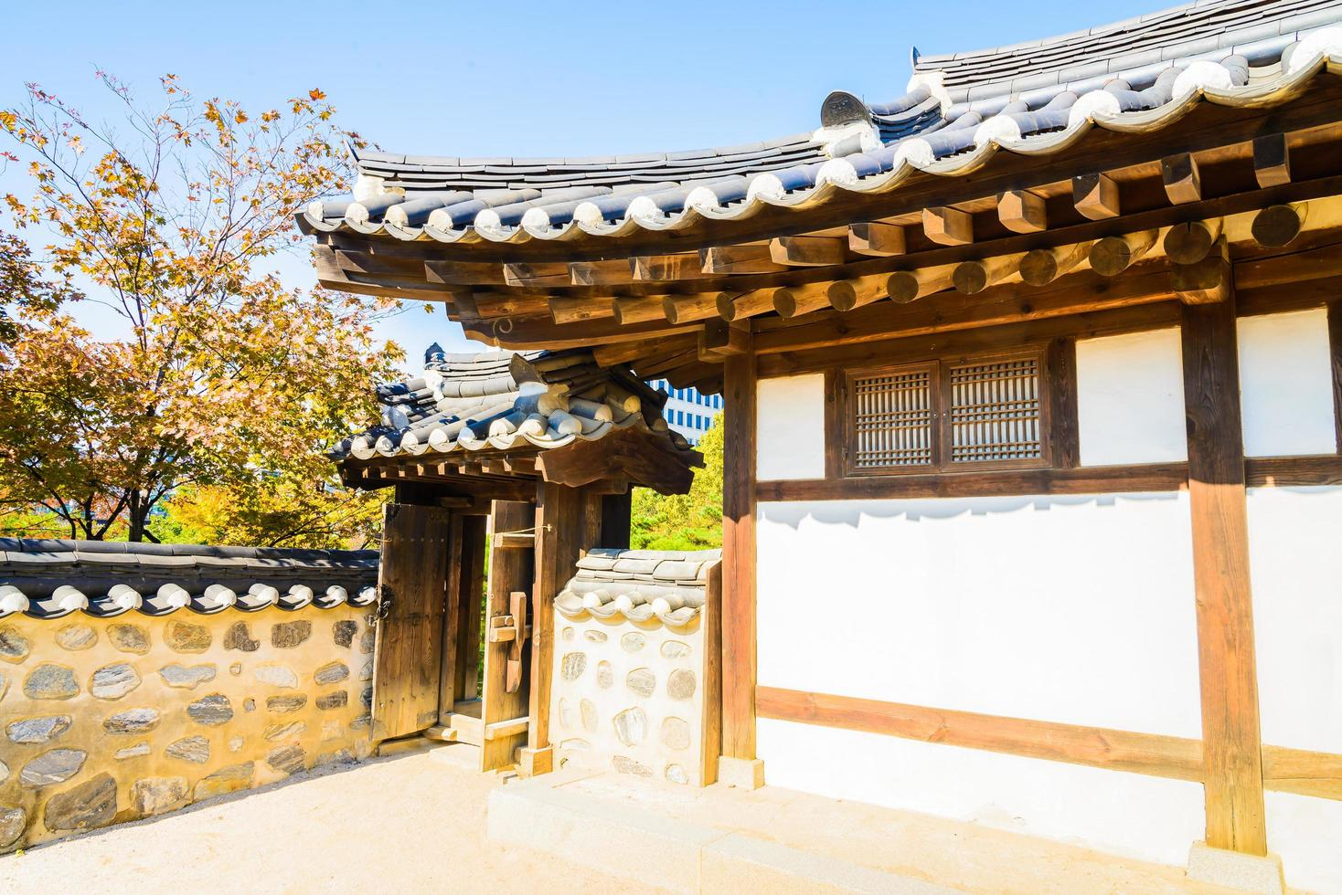Namsangol hanok village en Seúl, Corea del Sur foto