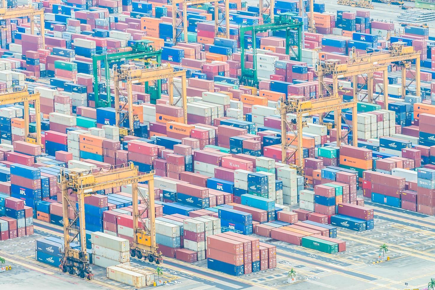 puerto marítimo de singapur foto