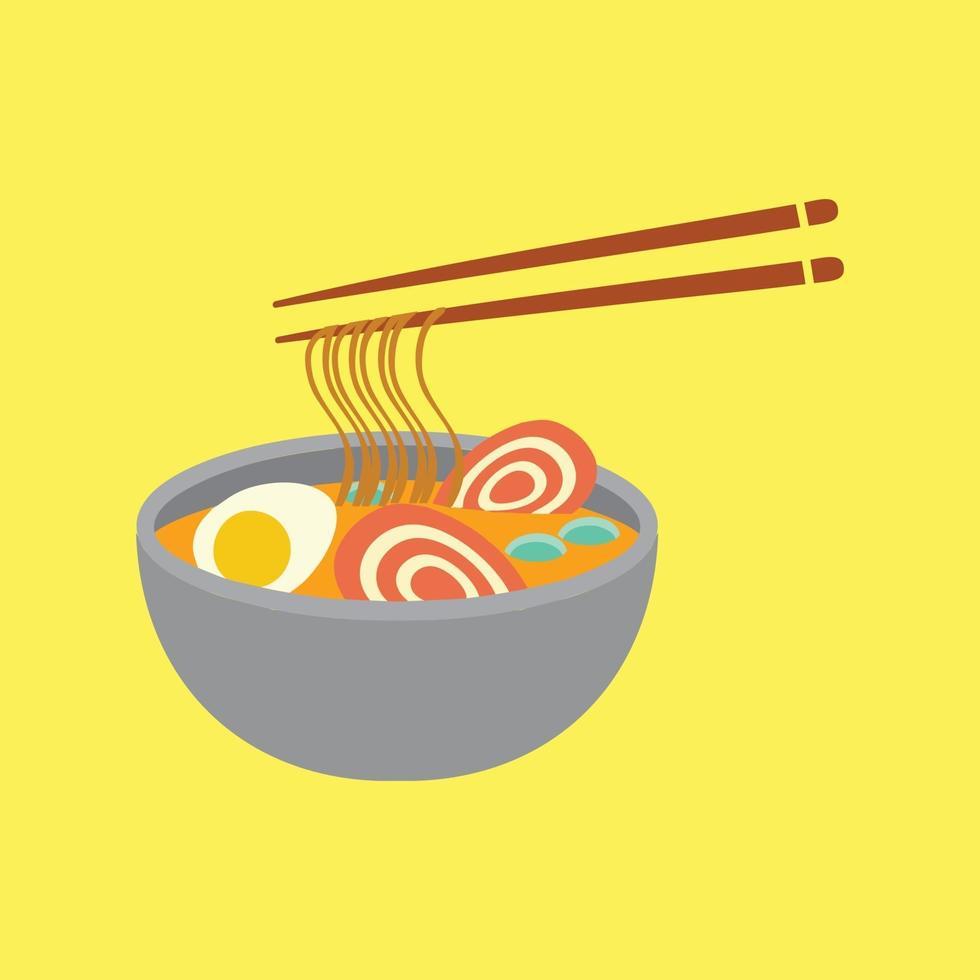 Japanese food ramen vector