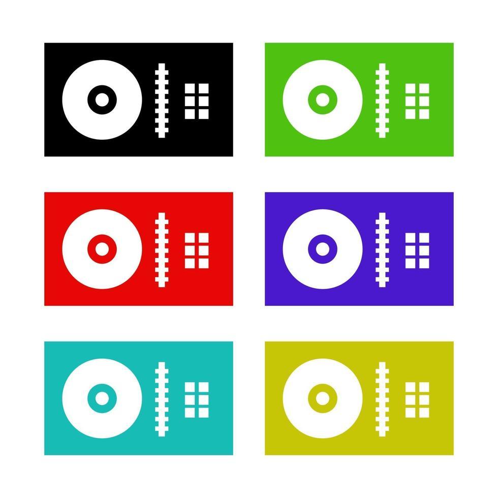 icono de mezclador de dj en el fondo vector