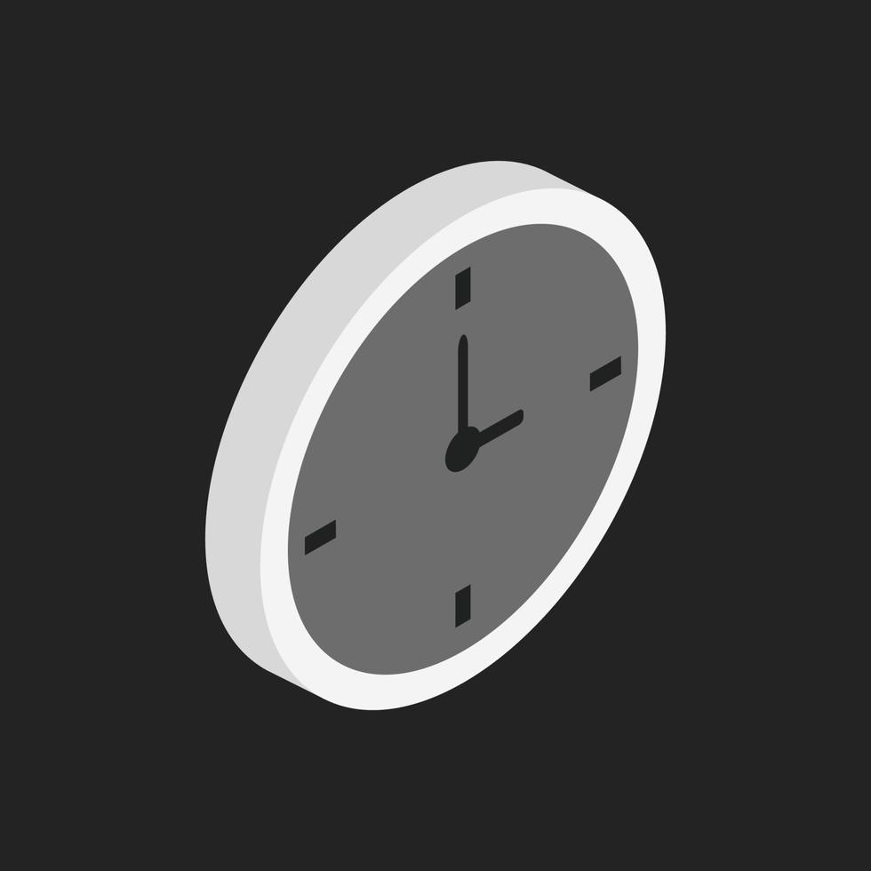 icono de reloj en el fondo vector