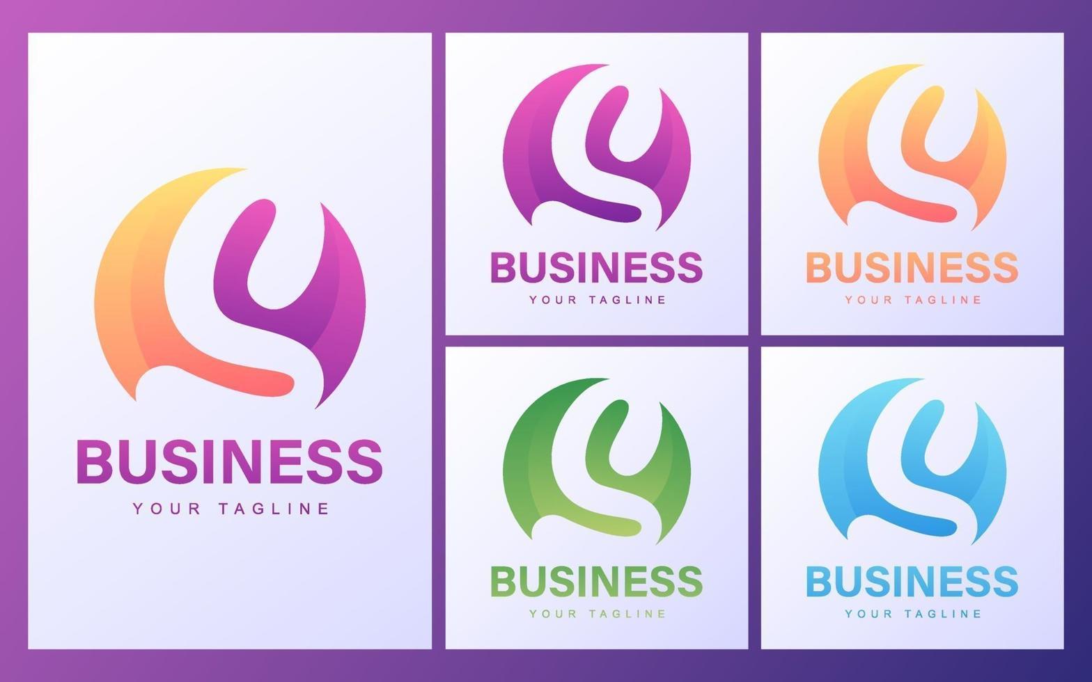 conjunto de logotipo letra s vector