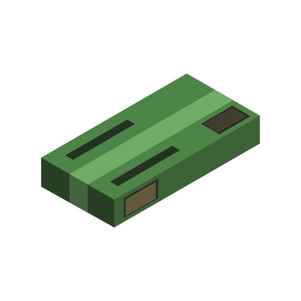 icono de paquete isométrico en el fondo vector