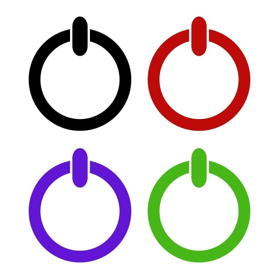 icono del botón de encendido en el fondo vector