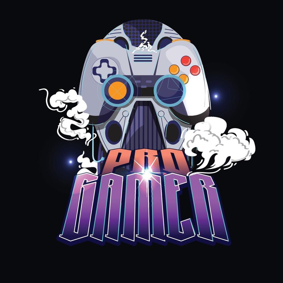 concepto de logotipo de jugador profesional - vector