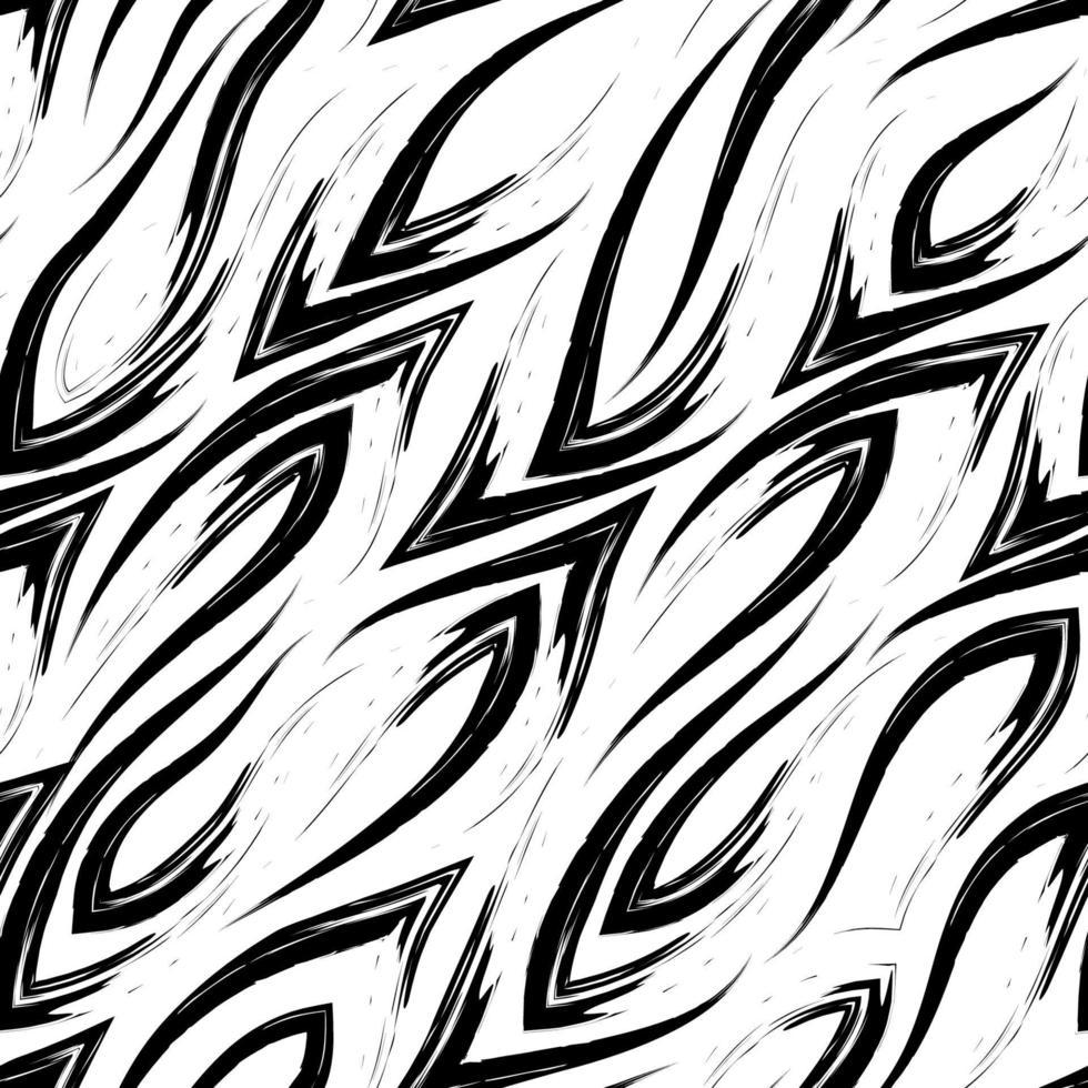 patrón de línea negra de vector transparente con esquinas afiladas que fluyen suavemente entre sí aisladas sobre un fondo blanco.
