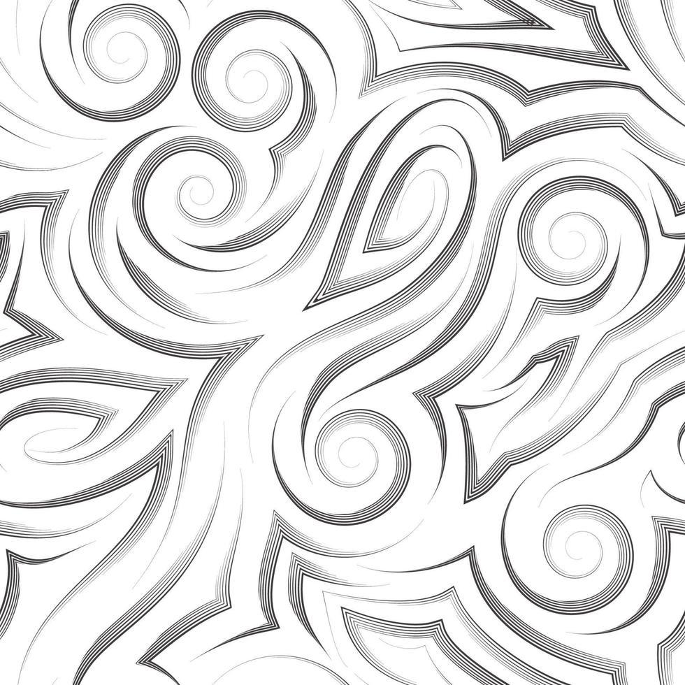vector patrón transparente negro dibujado con un lápiz o un trazador de líneas para la decoración aislado en un fondo blanco.