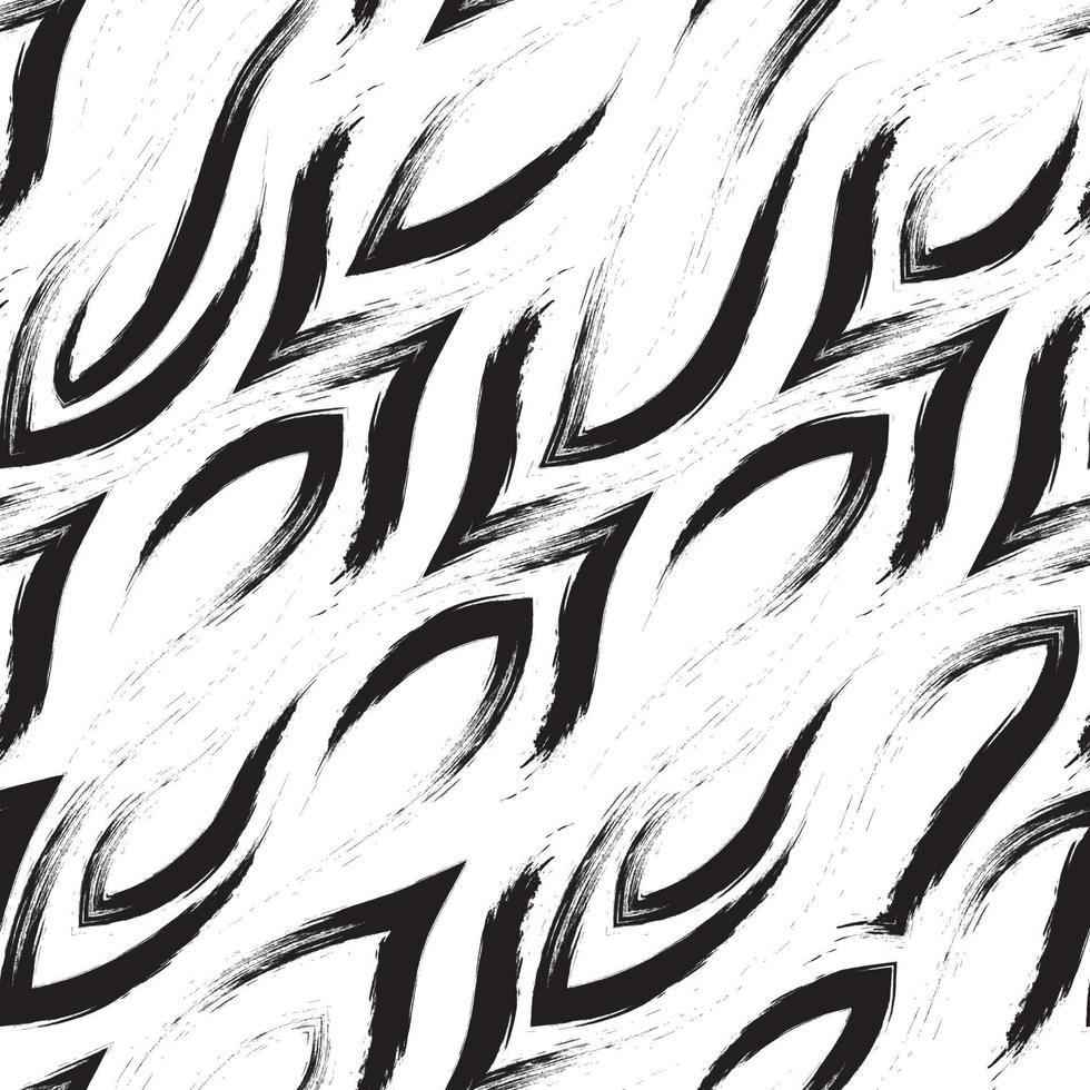 patrón de vector transparente de esquinas y líneas suaves. patrón abstracto geométrico de trazos de pincel.