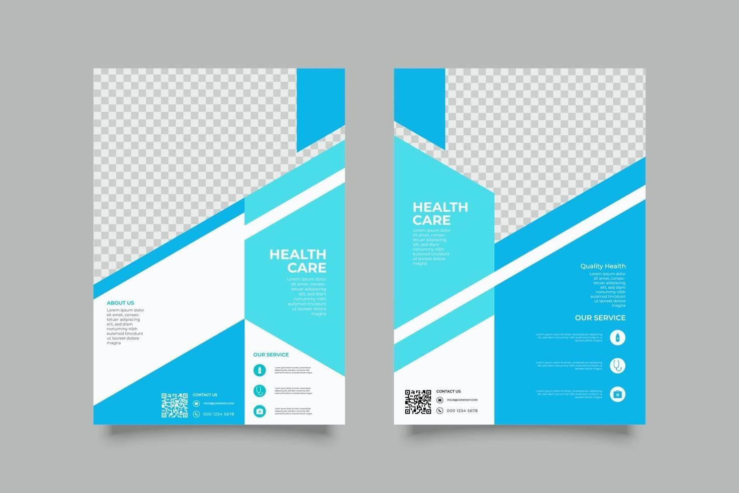 Plantilla de volante de información de la empresa con formas geométricas. vector