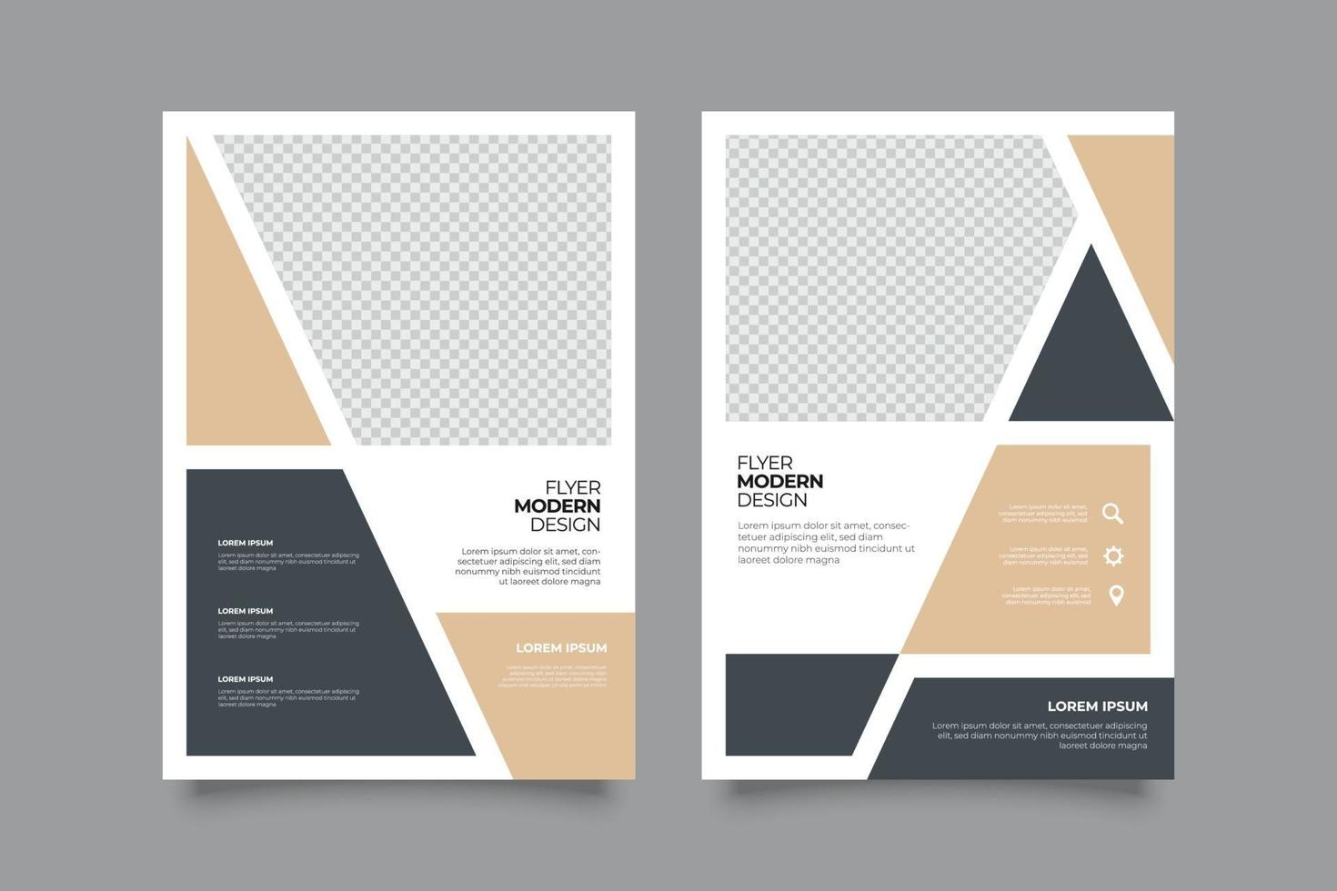 Minimalist webinar Flyer Template with Shapes vector