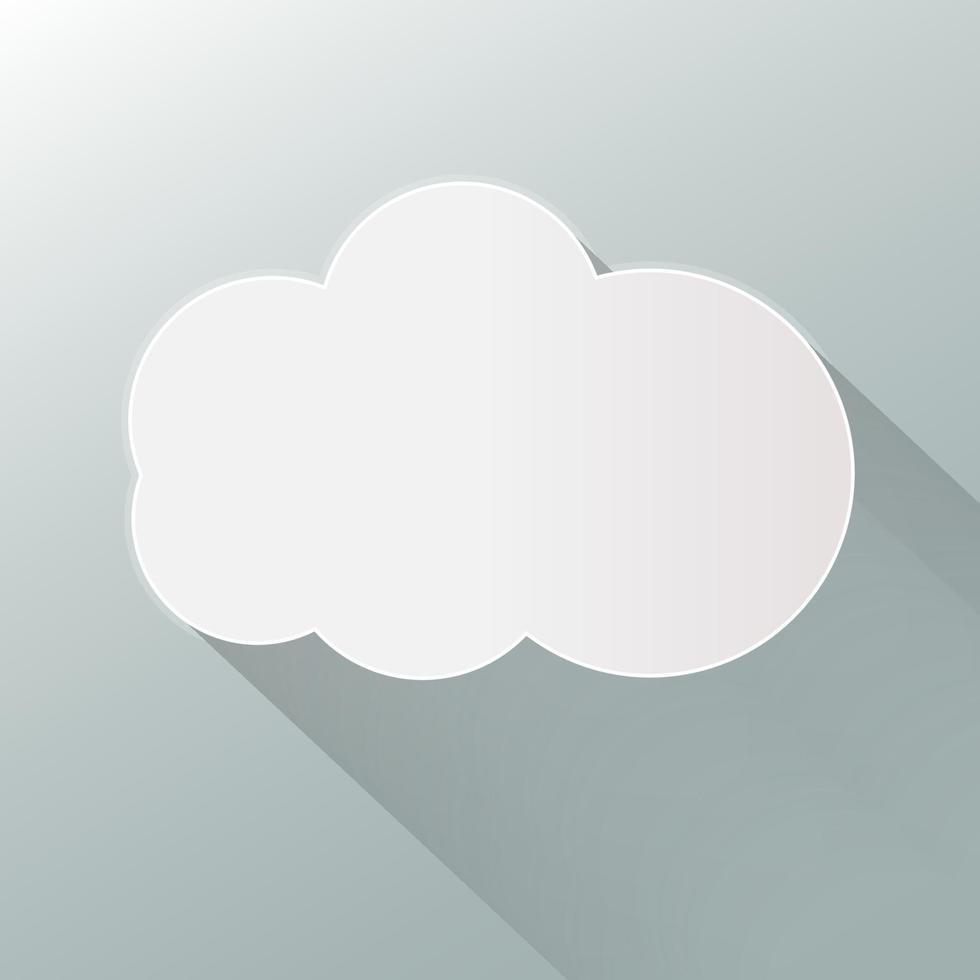 icono de nube aislado sobre fondo. nube plana. vector