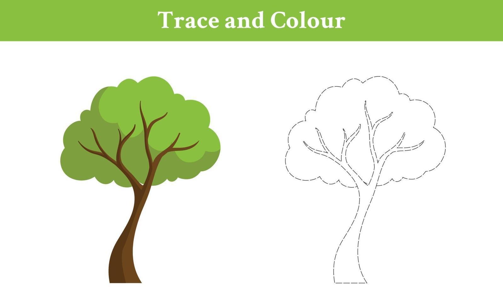 árbol de trazas y colores vector
