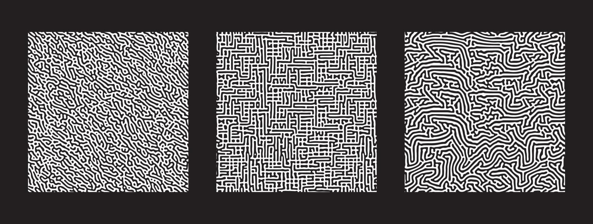 colección de patrones sin fisuras abstractos de turing. vector