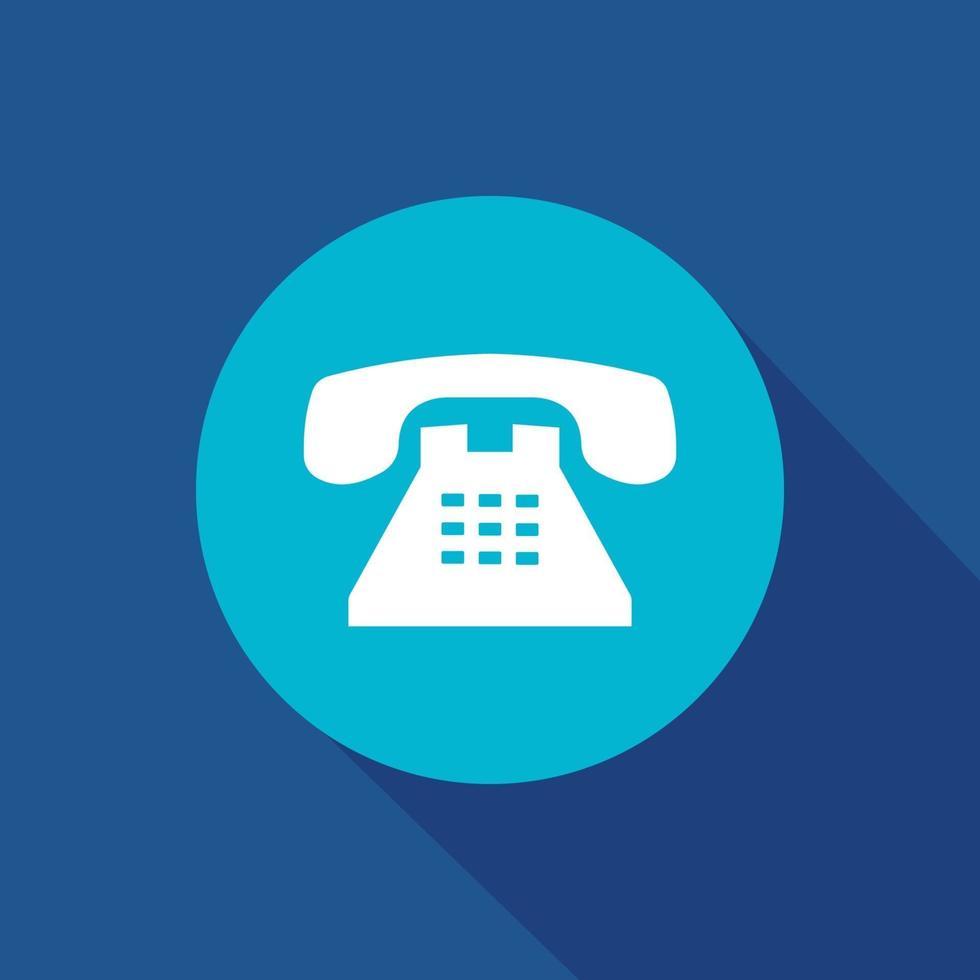 icono de vector de teléfono de oficina. negocios, teléfono, comunicación, símbolo de llamada aislado.