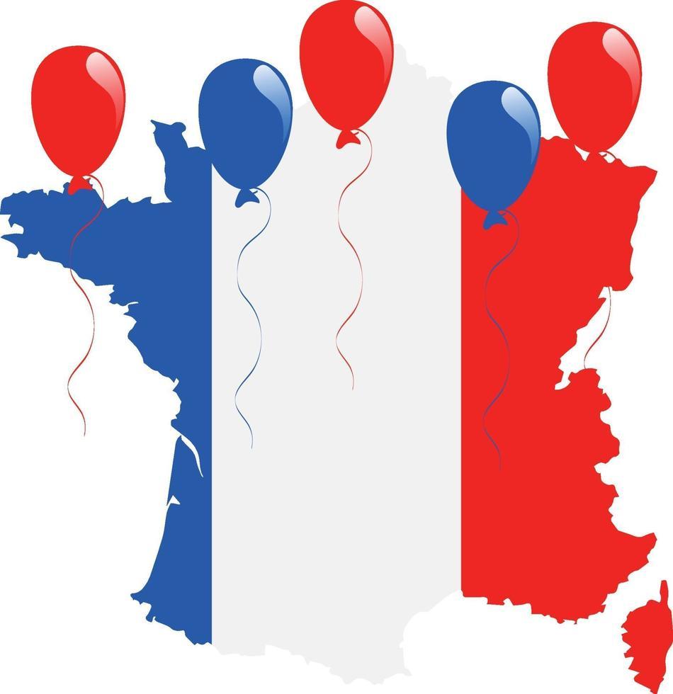 bandera de francia mapa vector