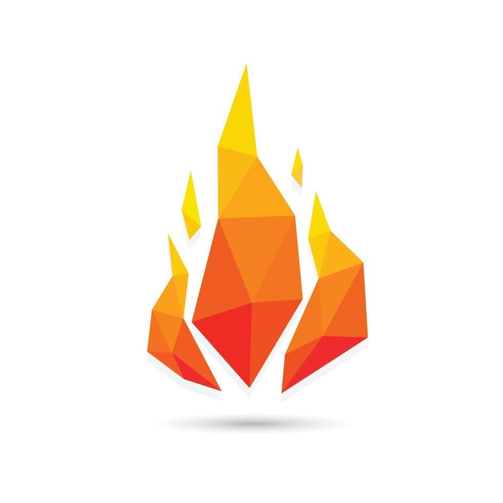diseño geométrico del triángulo de fuego abstracto. ilustración vectorial vector