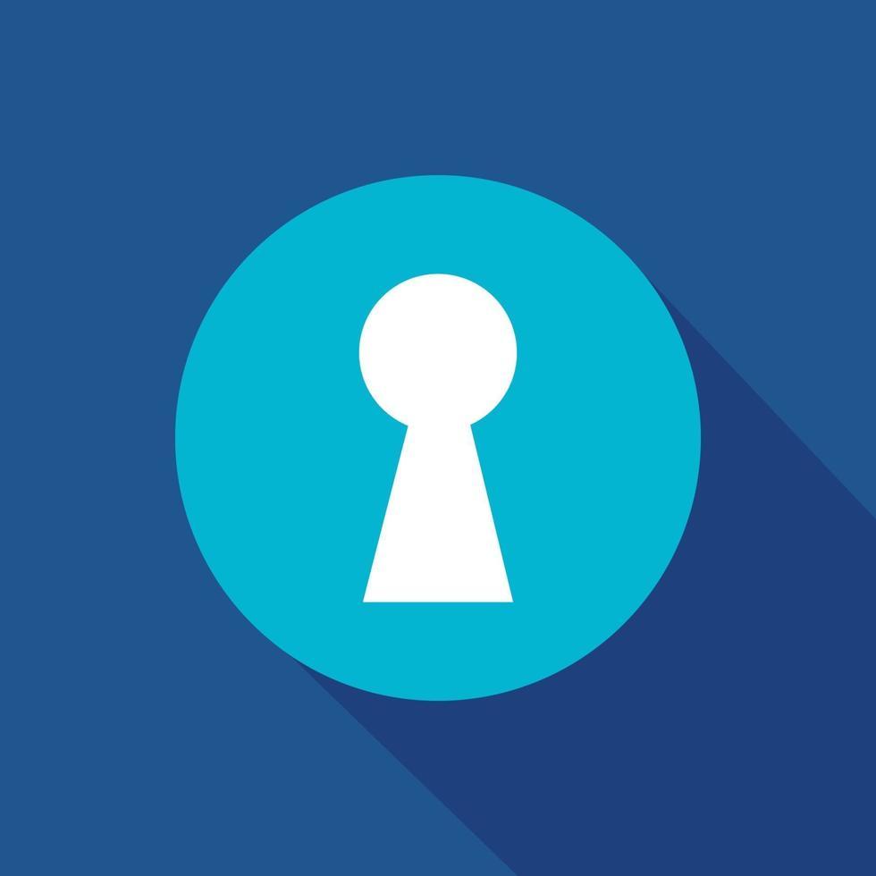 símbolo de icono de vector de ojo de cerradura para sitio web y aplicación móvil