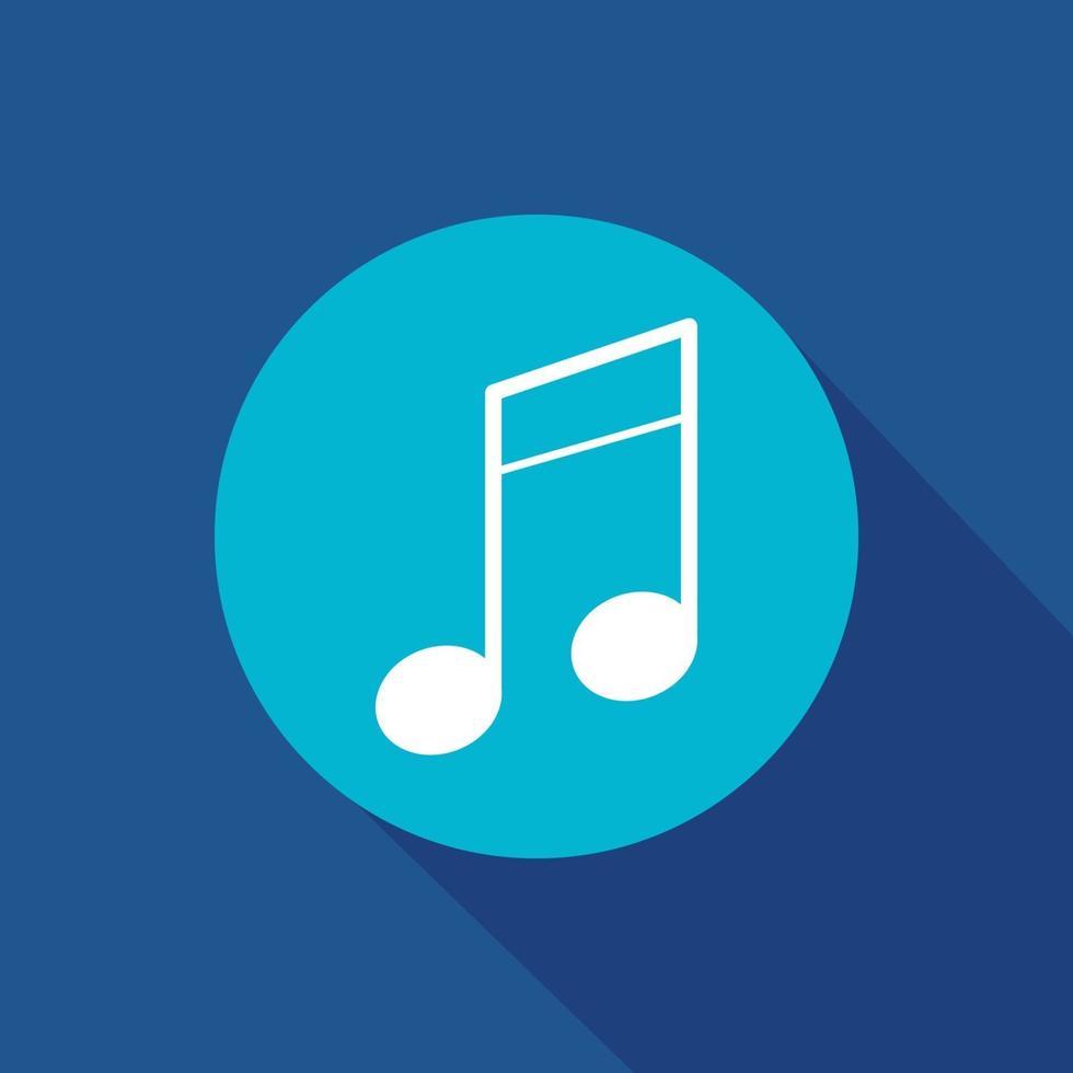 Símbolo de icono de vector de nota musical para sitio web y aplicación móvil