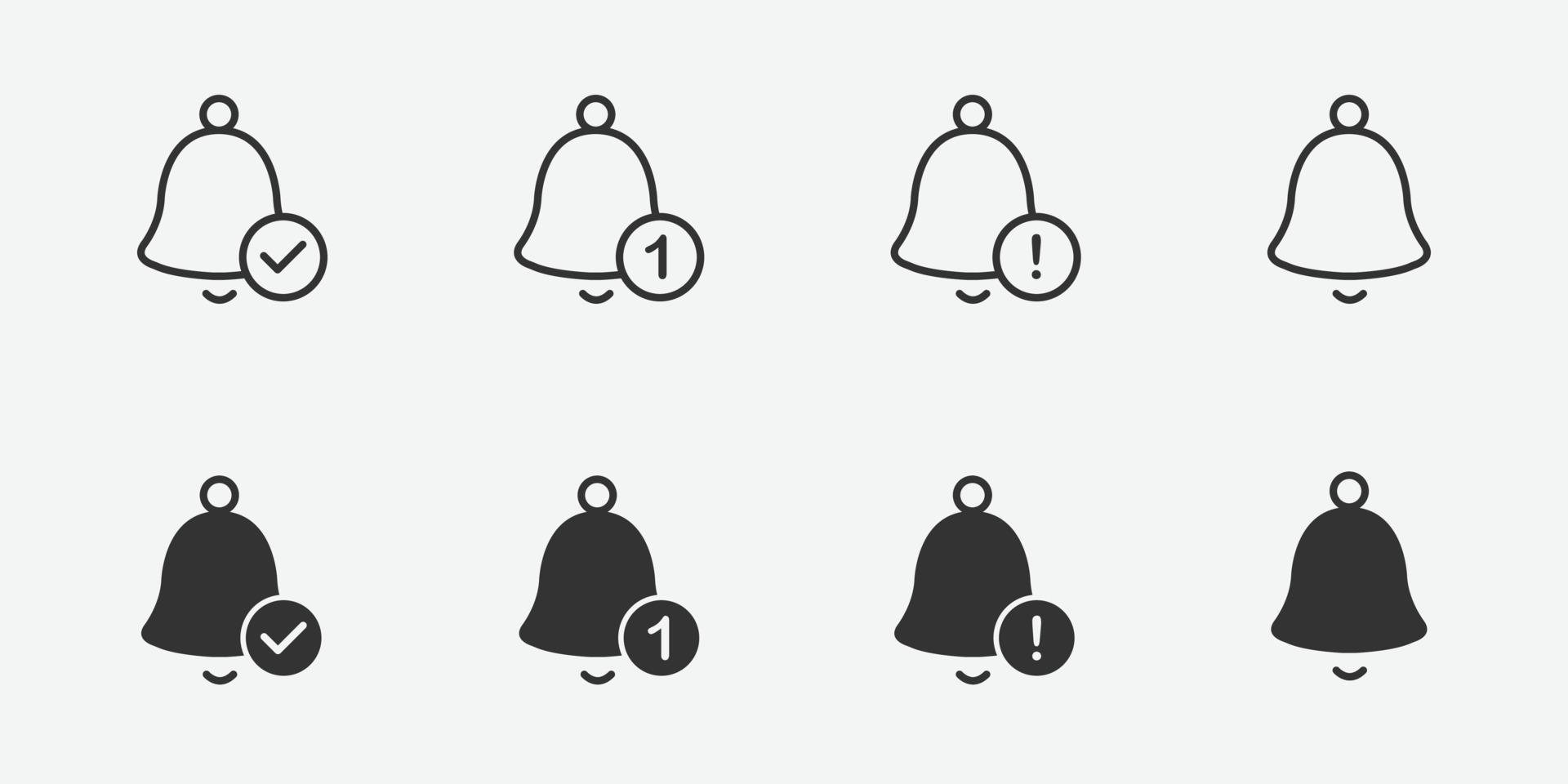 icono de campana de notificación para su diseño vector