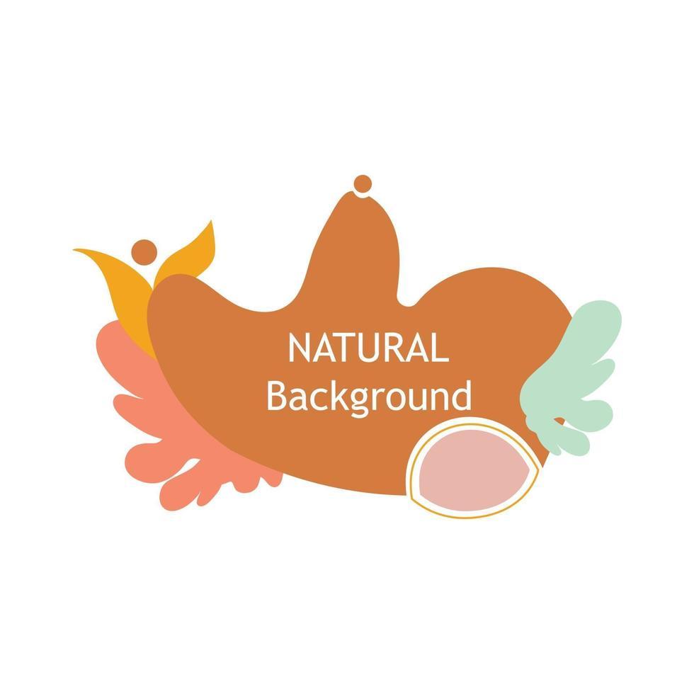 ilustración natural decorativa. perfecto para proyectos de diseño, fondo, publicación en redes sociales, banner vector