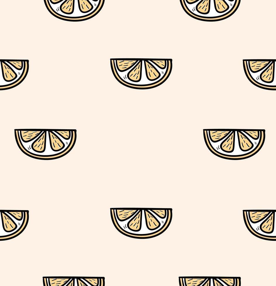 rebanada de un patrón transparente naranja vector
