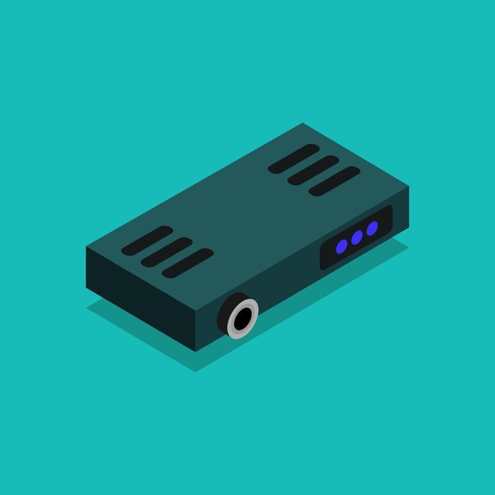 icono de proyector en el fondo vector